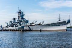 战舰USS新泽西BB-62 免版税图库摄影