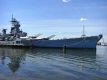 战舰USS新泽西BB-62 图库摄影
