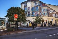 戛纳中央汽车站,法国 免版税库存照片
