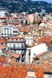 戛纳法国屋顶 库存照片