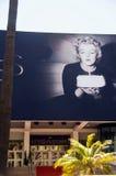 戛纳节日玛里琳・门罗照片 免版税库存图片