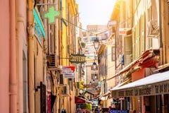 戛纳街道 库存图片