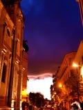 戛纳风雨如磐的天空 库存图片