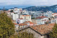 戛纳,法国全景  免版税库存图片
