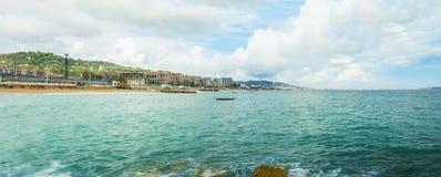 戛纳,法国海滨,全景 库存照片