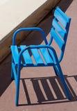 戛纳-蓝色椅子 免版税图库摄影
