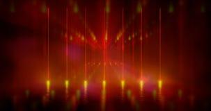 截去容易的编辑文件例证的3d包括了路径翻译 未来派在黑背景和反射性混凝土的科学幻想小说摘要红色和紫色霓虹灯形状 库存例证