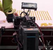截去数字路径专业人员录影的照相机 图库摄影
