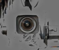 截去数字路径专业人员录影的照相机 免版税库存照片