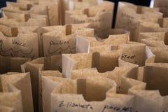 1截去构成包括的路径购物的袋子 库存图片
