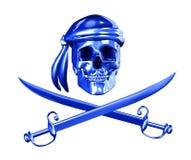截去的数字路径海盗行为 免版税库存图片