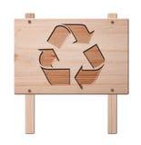 截去的查出的路径回收符号 免版税库存图片