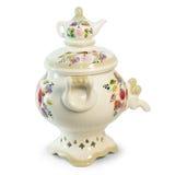 截去的釉路径俄语花瓶 免版税库存图片