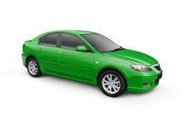 截去绿色路径w的汽车 皇族释放例证