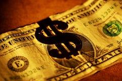 截去货币 免版税库存照片