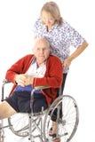 截肢术帮助的护士患者 库存照片