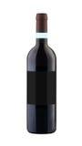 截去包括的查出的标签概述路径红葡萄酒的空白瓶 库存图片
