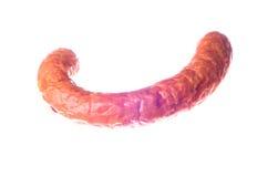 截去包括的查出的路径香肠的背景抽了白色 免版税库存照片