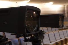截去数字路径专业人员录影的照相机 4k摄象机的辅助部件 图库摄影