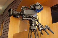截去数字路径专业人员录影的照相机 4k摄象机的辅助部件 库存照片