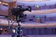 截去数字路径专业人员录影的照相机 4k摄象机的辅助部件 库存图片