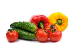截去新鲜的包括的查出的路径蔬菜的背景空白 免版税库存图片