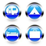 截去的数字式图标例证包括的路径抓旅行 免版税图库摄影