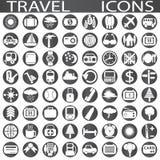截去的数字式图标例证包括的路径抓旅行 图库摄影