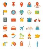 截去的数字式图标例证包括的路径抓旅行 免版税库存图片