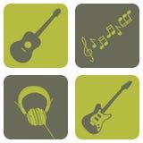 截去的数字式图标例证包括的音乐路径抓 免版税库存图片