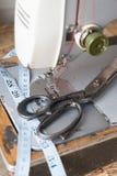 截去的查出的设备路径缝合的葡萄酒 图库摄影