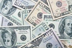 截去美元incl路径的背景钞票 库存照片