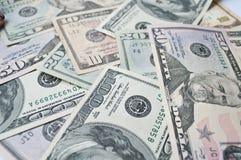 截去美元incl路径的背景钞票 图库摄影
