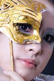 戴假面具的人 库存照片