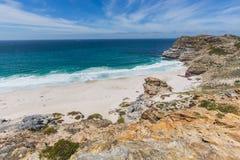 戴兹海滩看法在开普角的 免版税库存图片