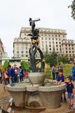 戴安娜喷泉在绿园伦敦英国 免版税库存图片