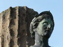 戴安娜女神意大利庞贝城雕象 免版税库存图片