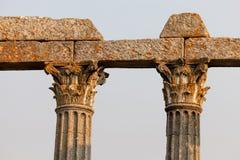 戴安娜罗马寺庙,埃武拉 库存图片