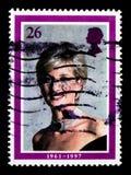 戴安娜,威尔士王妃记念serie画象,大约1998年 库存照片