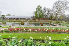 戴安娜Memorial Garden公主在海德公园 免版税图库摄影