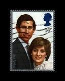 戴安娜Spencer,查尔斯,英国王子夫人婚姻,大约1981年 免版税库存图片