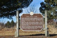 戴恩县家庭的历史标志-维罗纳,威斯康辛 库存图片