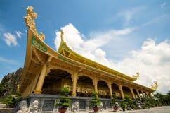 戴nam公园徒步旅行队寺庙越南 免版税图库摄影