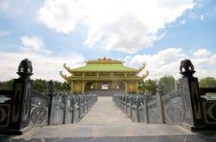 戴nam公园徒步旅行队寺庙越南 免版税库存照片