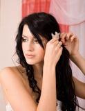 户内可爱的新娘 免版税库存图片