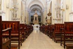 户内大教堂在利昂,尼加拉瓜 库存照片