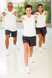 户内家庭锻炼 免版税库存图片