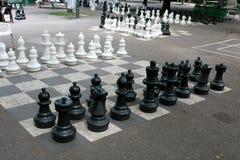 户外一盘象棋 库存图片
