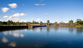 户外古老柬埔寨寺庙废墟 免版税库存照片