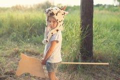 户外可爱的儿童游戏 免版税图库摄影